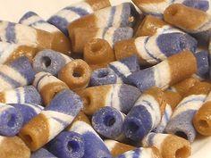 African Sand Cast Powder Glass Beads 50pcs by NorahzBeadSupplies, $7.95