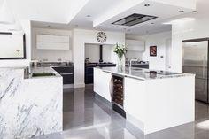 Viscount White natural granite worktops