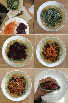 Wrap - Spinach and Goat's Cheese with Beetroot, Grated Carrot and Pistachios.