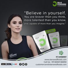 • 100% Pure L-Arginine • Ideal pre-workout ingredient • Conditionally essential amino acid • Vital for human biochemistry • Popular amongst strength and bodybuilding athletes  Choose your Optimal Nutrition at #Starseed®, Exclusive Importer of #BulkPowders® UK L Arginine, Biochemistry, Amino Acids, 100 Pure, Believe In You, Athletes, Bodybuilding, The 100, Strength
