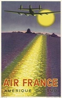 1948 Victor Vasarely Poster for Air France, Amerique du Sud . Air France, Victor Vasarely, Art Deco Posters, Cool Posters, Vintage Advertisements, Vintage Ads, Vintage Airline, Vintage Stuff, Trains