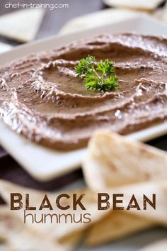 Black Bean Hummus from .This could possible be the best hummus recipe ever! It is SO good and jam-packed with Dip Recipes, Appetizer Recipes, Snack Recipes, Appetizers, Cooking Recipes, Summer Recipes, Comida Armenia, Best Hummus Recipe, Sauces