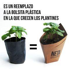 Es un reemplazo a la bolsita plástica en la que crecen los plantines - ¿Qué es una #neta?