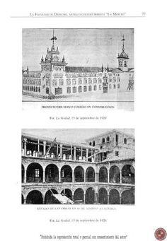 construccion de la merced y Claustro la merced hoy universidad desde 1934 antes colegio marista, antes convento