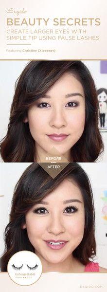 How To Make Your Eyes Appear Larger With False Eyelashes #lashtip #lashtricks
