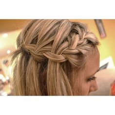 Side/front view - waterfall braid