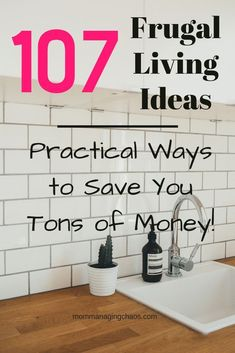 Are you looking for a little more room in your too tight budget? Need more practical ways to save money? Check out this list of over 125 Frugal Living Tips to save more money on groceries, eating out, utilities, clothing and more! Ways To Save Money, Money Tips, Money Saving Tips, Money Budget, Managing Money, Money Hacks, Money Savers, Frugal Living Tips, Frugal Tips