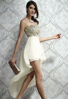 2966b711f94b Dlhé šaty PROM - béžové Chiffon Skirt