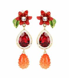 Crystal-embellished clip-on earrings | Dolce & Gabbana