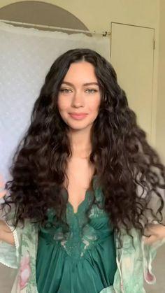 Curly Hair Tips, Hair Dos, Curly Hair Styles, Natural Hair Care, Natural Hair Styles, Straight Hairstyles, Cool Hairstyles, Hair Serum, Long Hair Cuts