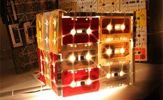 Luminárias de fita cassete