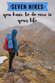 You Have To Do Once In Your Life This is a hiking bucket list. Some of the best hikes in the world.This is a hiking bucket list. Some of the best hikes in the world. Thru Hiking, Hiking Tips, Camping And Hiking, Hiking Gear, Hiking Backpack, Hiking Shoes, Camping Hacks, Backpacking Tips, Camping Essentials