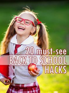 It's time to head back to school—parents have been looking forward to it and most kids have been dreading it for the past few months. As any mom knows, it's as much work for you as the kids when it comes to studying and being prepared for the big day. That's why these tips and tricks are like a cheat sheet to help you with that transition. From back to school DIY, lunch hacks, hairstyle help, outfit ideas, organization and the best morning routines, you'll be ready in no time!
