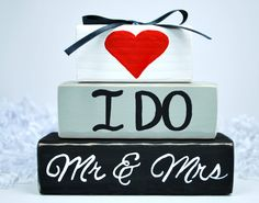 I+Do+Mr+Mrs+Wedding+WoodenBlock+Shelf+Sitter+Stack+by+WoodenBlock
