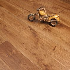 Platinum Series Solid Oak Flooring 18mm x 150mm Hand Scraped UV Traditional 1.98m2 - from Discount Flooring Depot UK. From only £29.99 per m2!