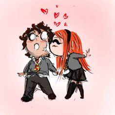 Harry and Ginny Weasleu. Hinny. Experiment plus kawaii by AlexielApril.deviantart.com on @DeviantArt