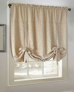 Savannah Embroidered Tie Up Curtain