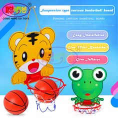 CongMingGu Cartoon Wall Mounted Mini Basketball Hoop for Kids basketball board with Ball and Needle Pump Children Toy