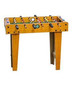 "Giant 27"" Wood Foosball Table"