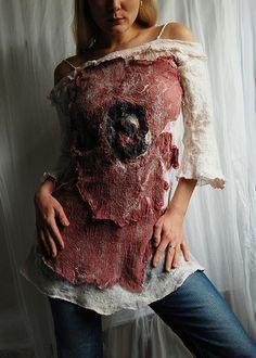 Nuno felt dress - Just Viltelli http://www.fashionshopa.com/
