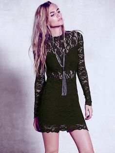 Nightcap Dixie Cut Out Long Sleeve Mini at Free People Clothing Boutique