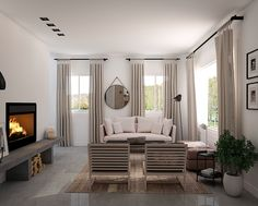 New in portfolio: Cozy living room in warm neutral tones