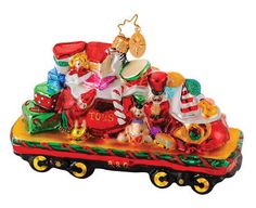 Browse our selection of Christopher Radko here at Trendy Ornaments. Ornaments Image, Xmas Ornaments, Train Ornament, Christopher Radko Ornaments, Christmas Train, Hand Painted Ornaments, Sweets, Holiday Decor, Trains