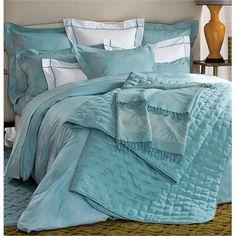 Yves Delorme Tropics Lagon King Duvet Set Turquoise Egyptian Cotton NEW