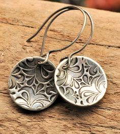 Hey, I found this really awesome Etsy listing at https://www.etsy.com/listing/115642808/silver-dangly-earrings-concave-round