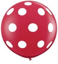 Nothing says birthday like a balloon with ladybird spots. 'Mum, I've been waiting all day for my birthday to turn up.'