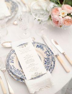 Jane Austen Regency Wedding Table Setting Inspiration