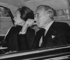 Duchess of Windsor and Earl Mountbatten of Burma on their way to the funeral of the Duke of Windsor