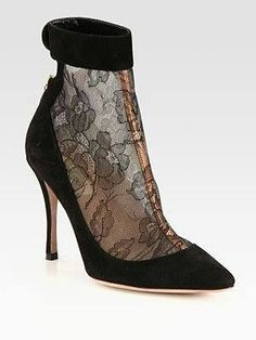 #lace #pointed #heel