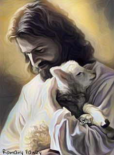 """""""Jesus Christ, Lord of all things! You see my heart, you know my desires. Please possess all that I am----You alone. I am your sheep, .make me worthy to overcome the devil. Pictures Of Jesus Christ, Jesus Christ Images, Religious Pictures, Jesus Art, Catholic Art, Religious Art, Image Jesus, Jesus Painting, Jesus Christus"""
