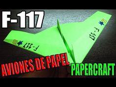 Como hacer un F-117 de papel    Aviones de papel paso a paso (Muy faciles)