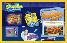 """Nickelodeon is having a SpongeBob Squarepants """"Splashtastic"""" instant win game for kids (ages 6-11), which you will see advertised on Kid Cuisine frozen meals. This promotion is two-tiered. One set of the prizes are for …"""