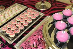 """Photo 1 of 35: Pink/Zebra Theme / Baby Shower/Sip & See """"Zebra Theme Baby Shower """"   Catch My Party"""
