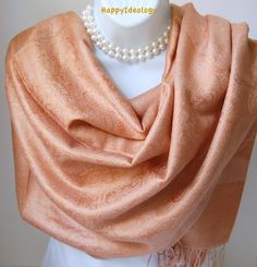 Beige Pashmina Scarf. Camel Beige Pashmina by HappyIdeology                                                                                                                                                      More