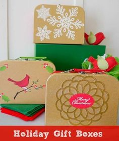 Get in the holiday spirit by making some creative DIY crafts with your kids! Here is one example, DIY holiday gift boxes!