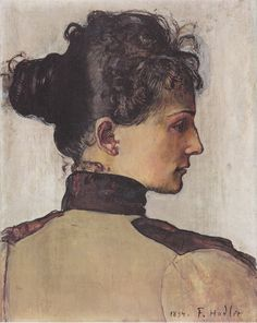 Portrait of Berthe Jacques, 1894, Ferdinand Hodler