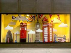 The Brits get creative with some cool window displays