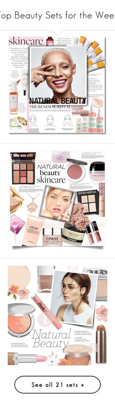 """""""Top Beauty Sets for the Week"""" by polyvore ❤ liked on Polyvore featuring beauty, Clinique, Mario Badescu Skin Care, Malie Organics, Linne, SkinCare, minimalistbeauty, Marc Jacobs, Sonia Kashuk and Aveda"""