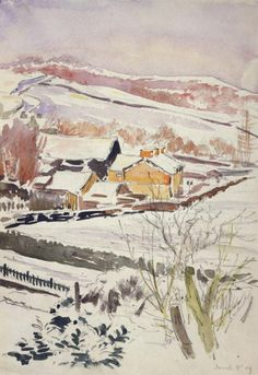 Sketch of farm in snow 1909  Sawrey  Beatrix Potter: Place as Inspiration - Victoria and Albert Museum