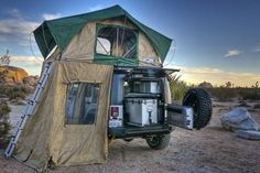Who needs an RV when you have a Jeep :) Pretty cozy!