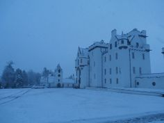 Blair Castle in the winter
