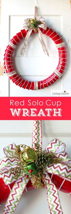How to make a Red Solo Cup Christmas Wreath. Fun DIY idea for a Very Tacky…