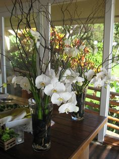 Centerpieces | White Orchid Wedding - Centerpiece for reception table