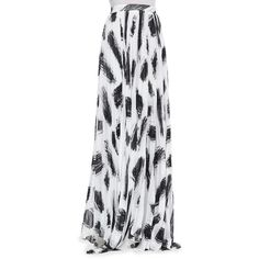 Women's Shannon Pleated Brush-Print Maxi Skirt - Alice + Olivia found on Polyvore