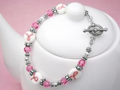 Breast Cancer Awareness Bracelet and lots of other inspiration for jewelry making
