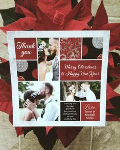 Wedding Thank You And Christmas Card
